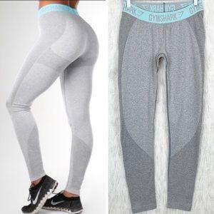Gymshark | Grey/Pale Turquoise Flex Leggings M